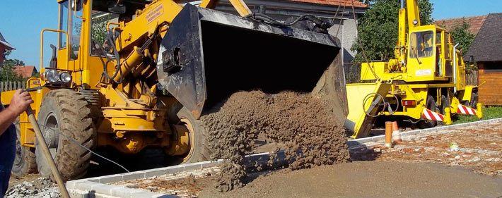 Míchaní betonu